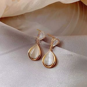Gold Plated Mother of Pearl Earrings
